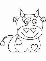 Coloring Pages Cow Games Printable Valentines Cows Cliparts Baby Sheets Bowling Valentine Getcoloringpages Advertisement Comments sketch template