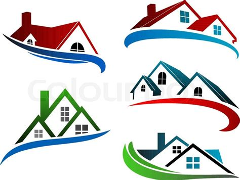 building symbols  home roofs  stock vector