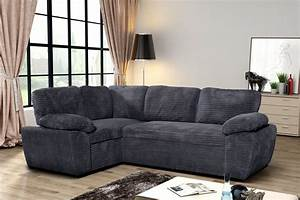 Cord Sofa : new modern enzo grey jumbo cord fabric corner double ~ Pilothousefishingboats.com Haus und Dekorationen