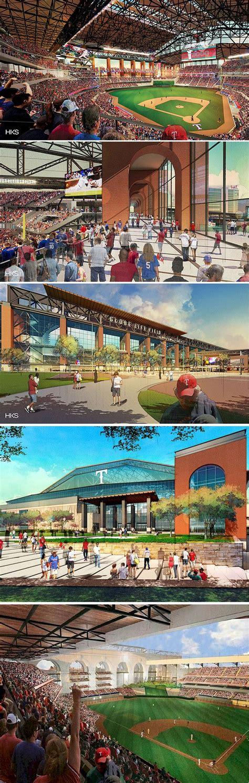 HKS Releases Renderings of the New Texas Rangers Stadium ...