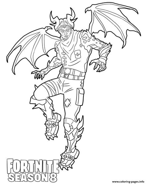 malcor  fortnite season  coloring pages printable