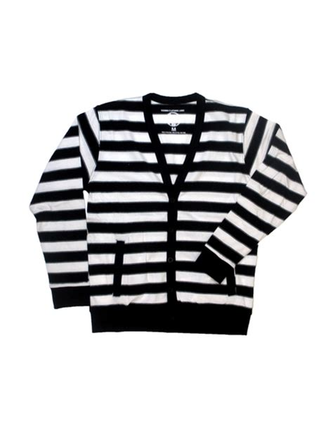 black and white striped sweater black and white striped cardigan wardrobe mag