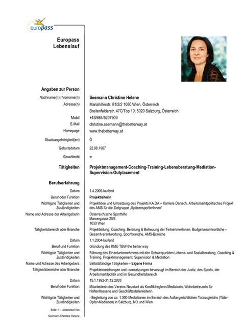 German Resume Exles by Cv Resume Resume Cv