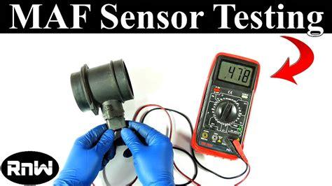 test  mass air flow maf sensor   wiring