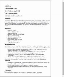 Welding Inspector Cv Sample Qc Welding Inspector Resume Template Best Design Tips