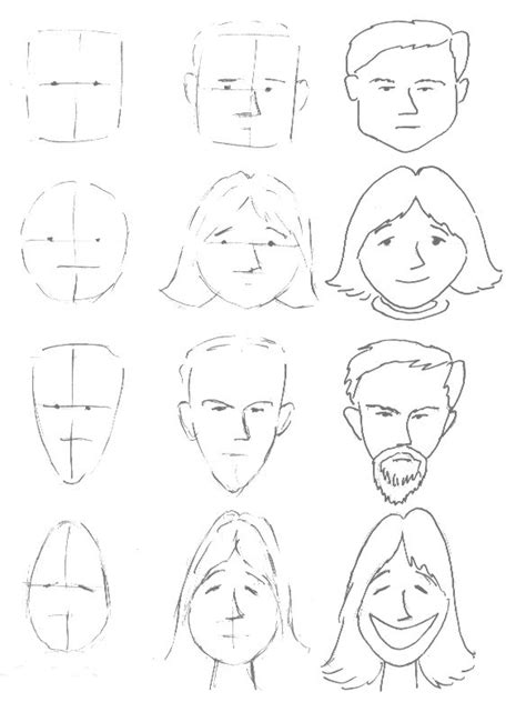 basic face drawing lesson