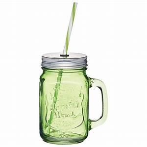 Mason Jar Paille : verre vert mason jar paille homemade ~ Teatrodelosmanantiales.com Idées de Décoration