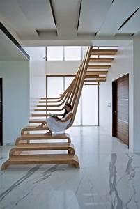 Escalier Bois Intérieur : escaliers en bois int rieur et ext rieur id es sur les designs ~ Premium-room.com Idées de Décoration