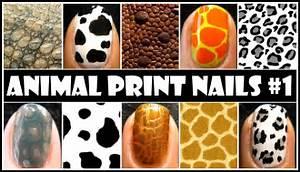 Animal print nail art no tools required easy nails