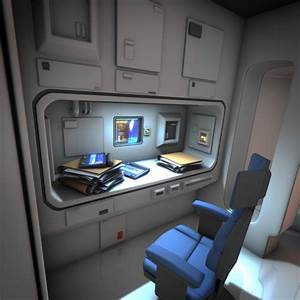 Spaceship Interior HD 3 3D Model OBJ FBX LWO LW LWS BLEND ...