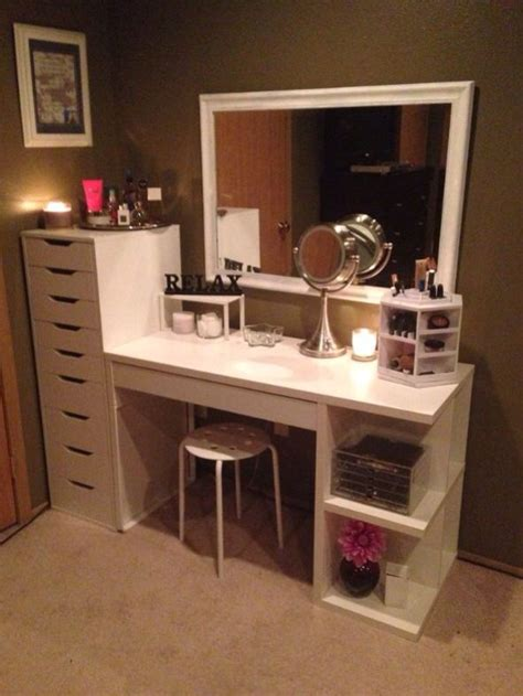 Affordable Makeup Vanity by Build Your Own Dresser Cheap Woodworking Projects Plans