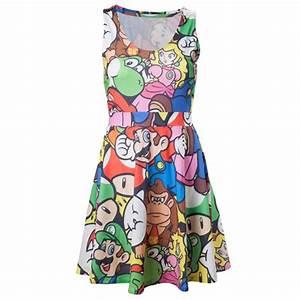 robe nintendo mario personnages With affiche chambre bébé avec robe longue manche longue fleurie