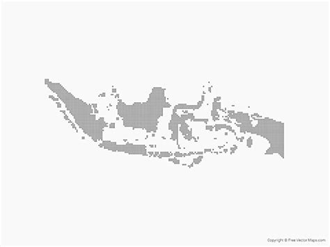 vector map  indonesia dots  vector maps