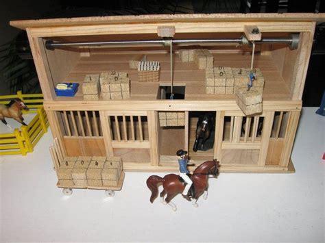 toy horse barn  working hay bale hoists  johnzo