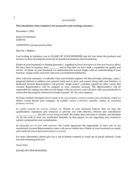 letter of introduction sle best photos of business