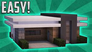 Minecraft how to build a small modern house tutorial 11 for Things to know when building a house