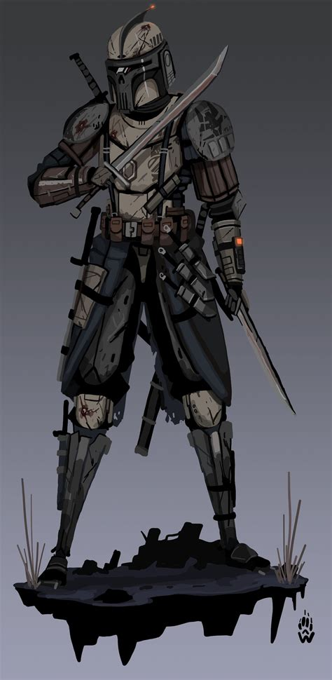 Mandalorian Weapons expert by Wolfdog-ArtCorner on DeviantArt