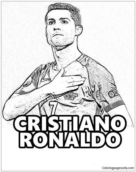 cristiano ronaldo image  coloring page  coloring