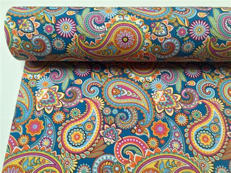 Blue Paisley Upholstery Fabric by Blue Paisley Upholstery Curtain Cotton Fabric Material