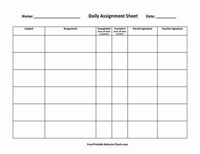 Assignment Daily Template Templates Allbusinesstemplates