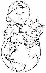 Caillou Coloring Printable Around Sheets Cool Wecoloringpage Fun sketch template