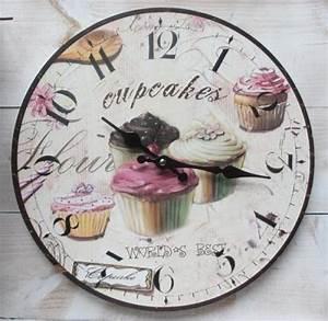 Küchenuhr Vintage : retro wanduhr muffin cupcake k chenuhr vintage uhr ~ Pilothousefishingboats.com Haus und Dekorationen