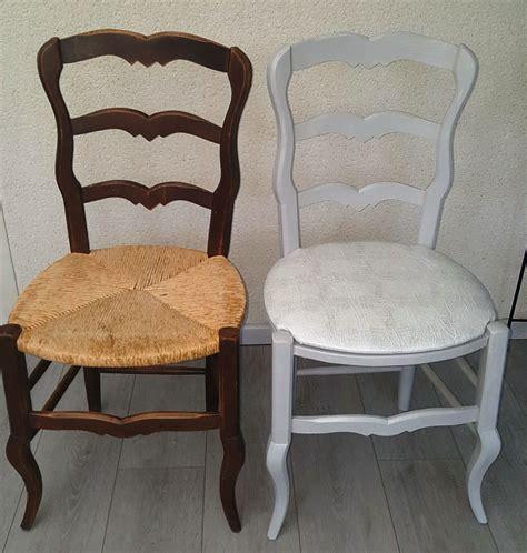 chaise bois paille chaise bois et paille repeinte avant après meubles bois