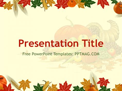 Free Thanksgiving Templates by Free Thanksgiving Powerpoint Template Pptmag