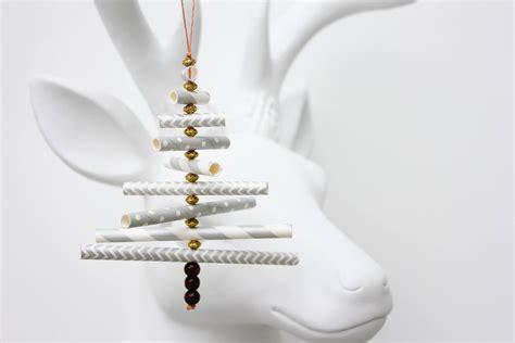 Diy Christmas Ornament Tutorial Using Paper Straws
