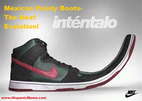 Meme Shoes For Sale - hispanic meme nike mexican pointy boots