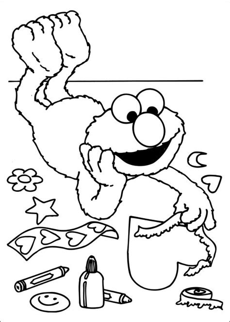 Monchichi Kleurplaat by Free Printable Sesame Coloring Pages For