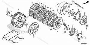 Honda Motorcycle 2019 Oem Parts Diagram For Clutch