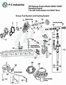 Off Highway Engine Model 6466a    6466t Standard Engine 7