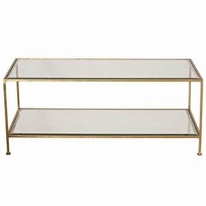 Coffee Table: Gold Glass Coffee Table Tempered Glass