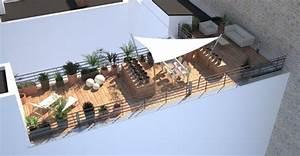 Aménagement Terrasse Appartement : architectes am nagement d 39 un toit terrasse avec sur l vation ossature bois ~ Melissatoandfro.com Idées de Décoration