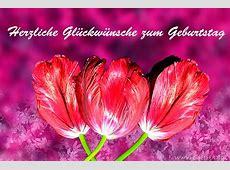Blumengrüsse herzliche Glückwünsche zum Geburtstag 3 rote