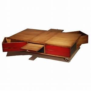 Table Sur Roulettes : table basse sur roulette avec box ~ Teatrodelosmanantiales.com Idées de Décoration
