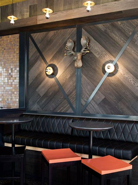 fixed seat  wall cladding restaurants bars design