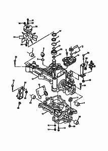 Transaxle Case Diagram  U0026 Parts List For Model 1646 Sabre
