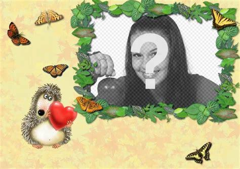 mettere cornice a foto hedgehog cornice amano mettere una foto di una coppia