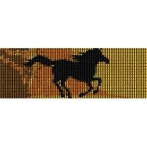 RUNNING HORSE - PEYOTE beading pattern for cuff bracelet SALE HALF PRICE OFF