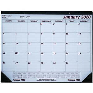 brownline desk pad calendar january december