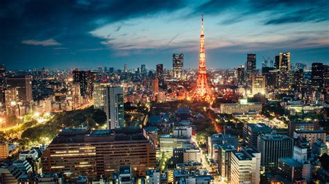 Tokyo Tower With Light During Nighttime In Japan HD Travel ...