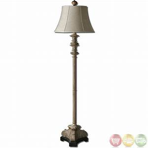 nerio distressed gray crackle black base floor lamp 28243 With distressed silver floor lamp