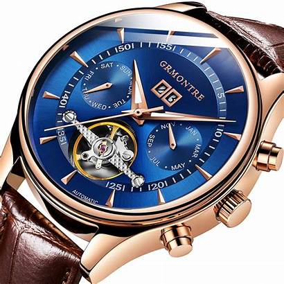 Automatic Mechanical Tourbillon Watches Leather Multifunctional Genuine