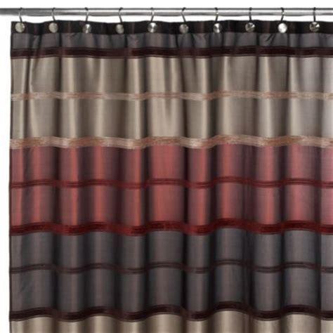 Guest bathroom shower curtain. Rust 72 Inch x 72 Inch