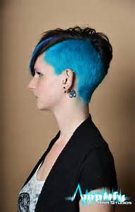 Women 39 S Hairstyles Side Shaved Blue Hair Hairstyles For Women 2015 Shaved Hairstyles For Women