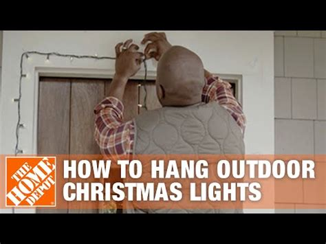 hang outdoor christmas lights  home depot