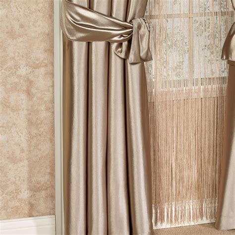 shimmer satin tailored curtain panel touch of class