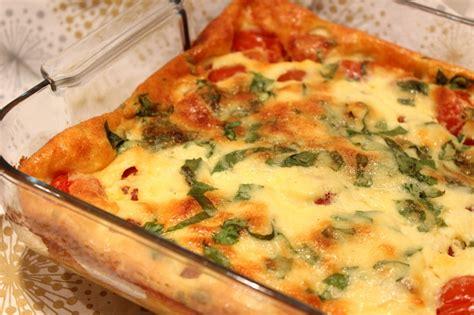 cuisiner les tomates cerises clafoutis aux tomates cerises parmesan et basilic pour